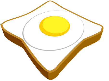 Lunch bread with fried egg