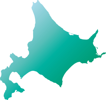 Hokkaido _ Silhouette _ green _ Gradet