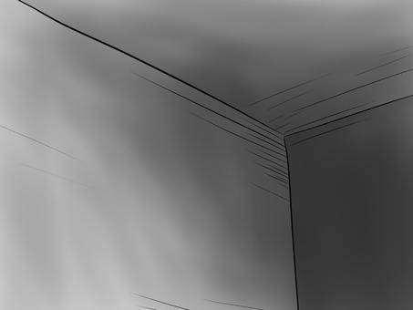 A dark secret room