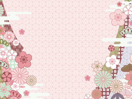 Japanese Pattern Background (Colorful) 04