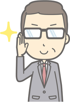 Middle-aged man suits - Glasses Kirari 2 - Bust