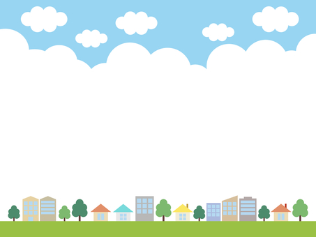City cityscape sky background color
