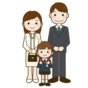 입학식 가족 사진