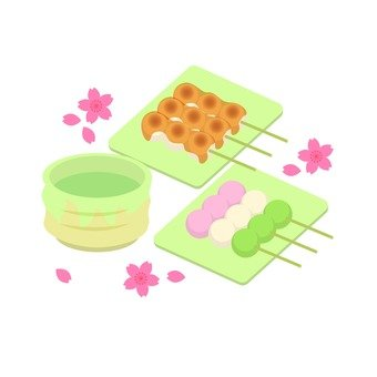 Ohanami · dumplings and tea