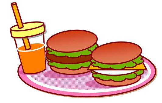 Burger ①