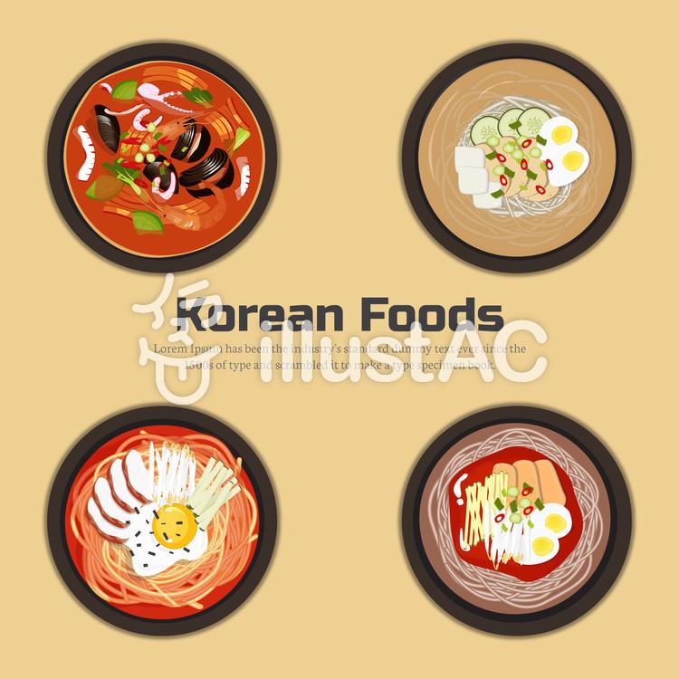 韓国食べ物コレクションのイラスト