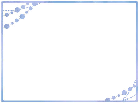Simple girly frame blue