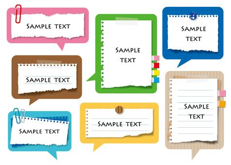 Speech notepad set