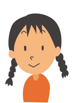 A braid girl