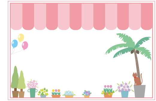 Decorative frame - flower shop