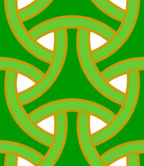 輪違い亀甲 パターン