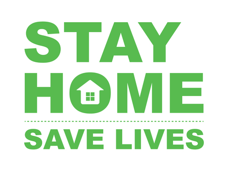 Stay home STAY HOME (green)