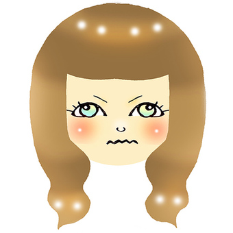 An angry beauty woman