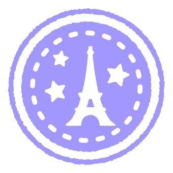 Antique Stamp Eiffel Tower