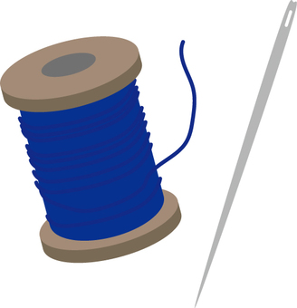 Needles and thread blue