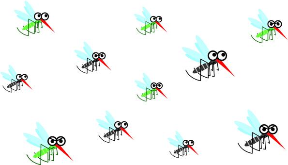 Horde of mosquitoes