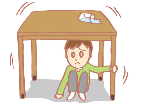 Earthquake (hidden under desk / table)