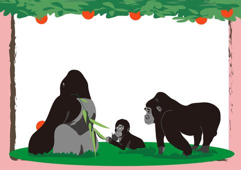 gorilla_ gorilla family frame 3