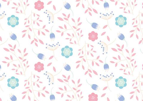 北欧風の花のパターン10