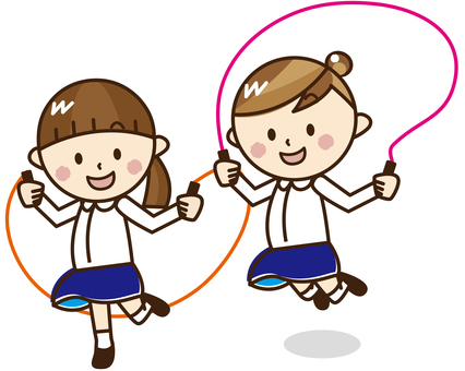 Two girls jumping rope _ A 48
