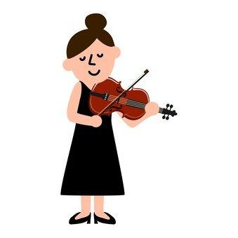 악기를 연주하는 여성