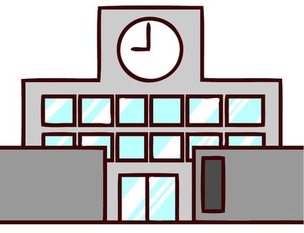 Illustration of a school building