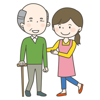 老人和照顧者