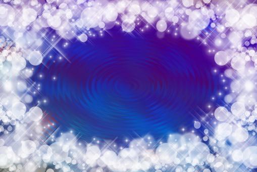 반짝이 물결 파랑