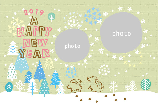 New Year card _ Frame Ya 12