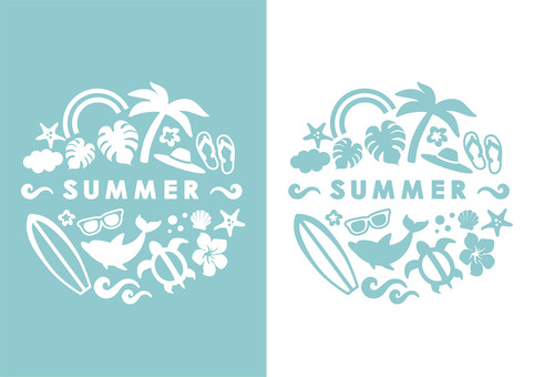 Summer sea beach event logo