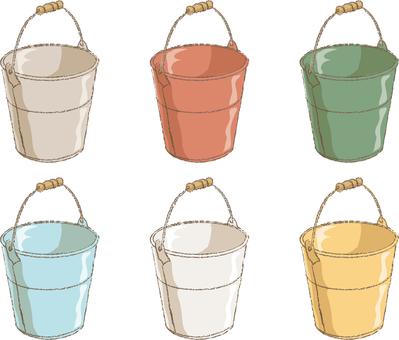 Each bucket color