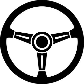 Steering wheel steering silhouette