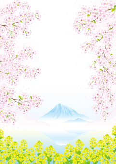 봄의 후지산