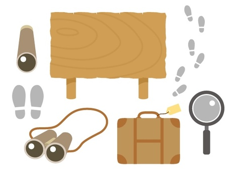 Tourist icon illustrations