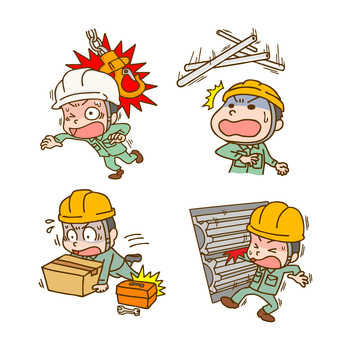 Worker labor accident (work accident) accident set