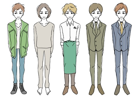 Various fashion boys