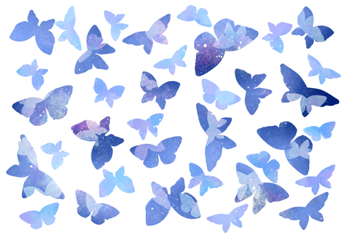 Night sky blue butterfly post card