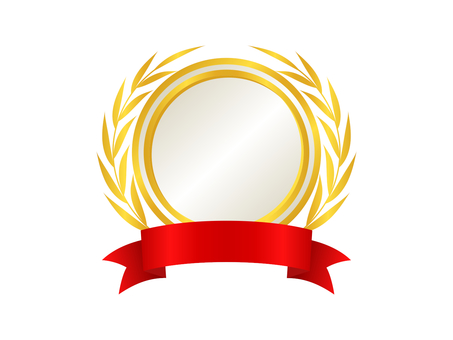 Medal Icon 10 Gold (White)