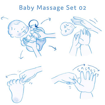 Baby massage set 02