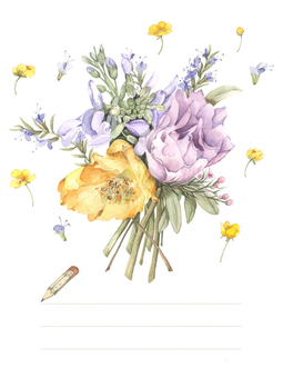 Postcard 2 - spring flower greeting card