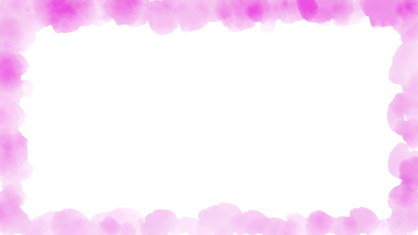 Watercolor frame pink color