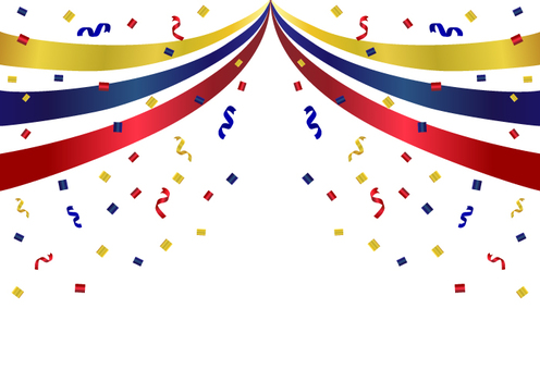 Background in which the ribbon flutters
