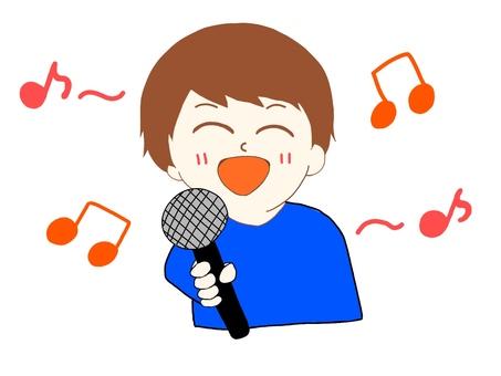 노래방에서 노래하는 사람