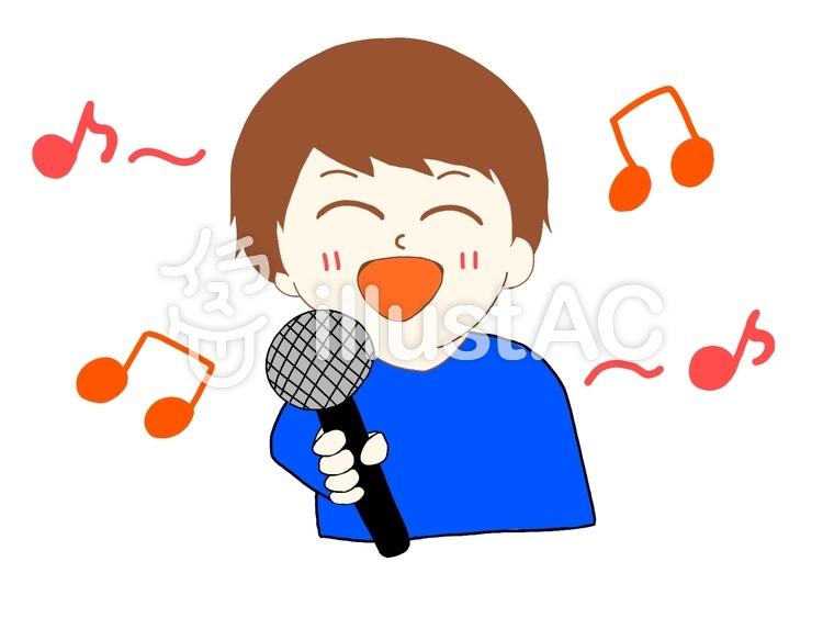 カラオケで歌ってる人イラスト No 1074997無料イラストなら