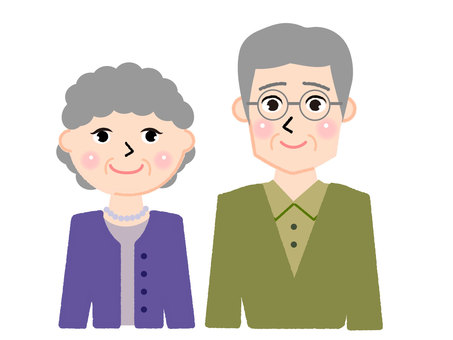 Old man and woman pair