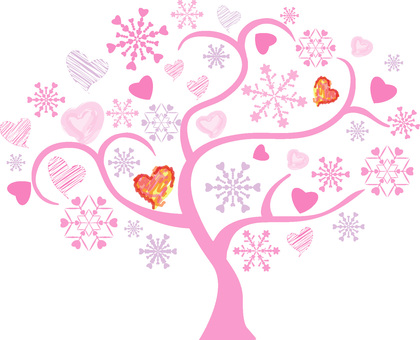 Heart Tree Pink