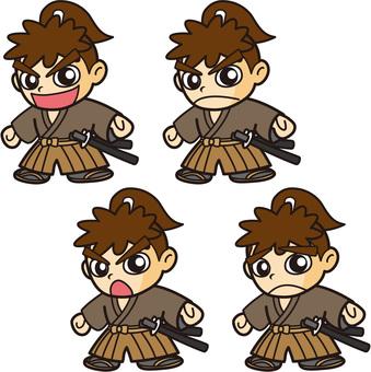 侍キャラクター(志士・浪人風)