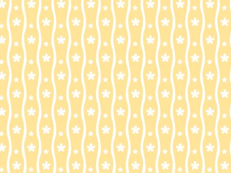 縦 wave flower (yellow)