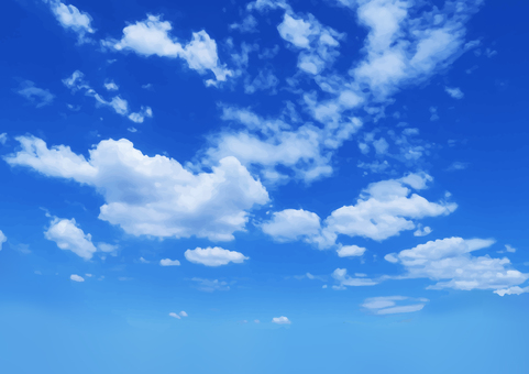 여름의 푸른 하늘과 구름 배경 소재 - 벡터 데이터