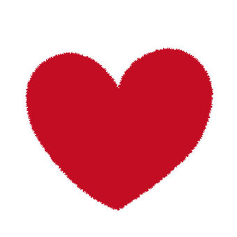Fluffy heart (red)